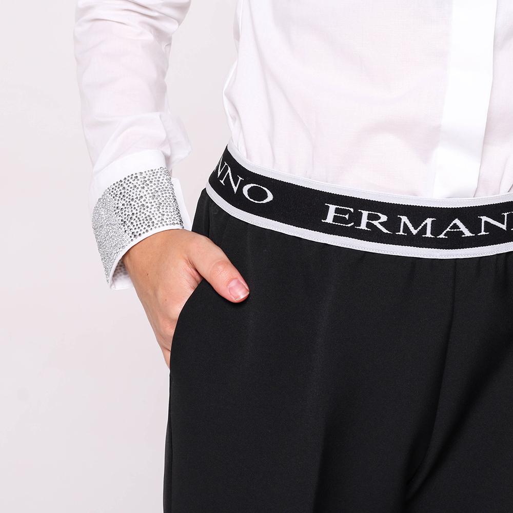 Черные брюки Ermanno Scervino со стрелками