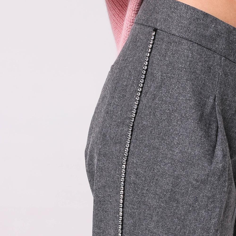 Серые брюки Ermanno Scervino со стразами