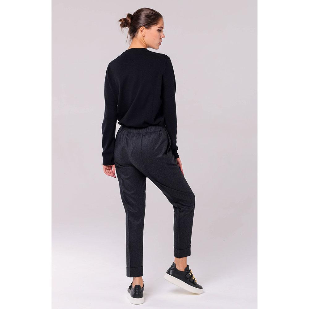 Серые брюки Kenzo из шерсти с отворотами