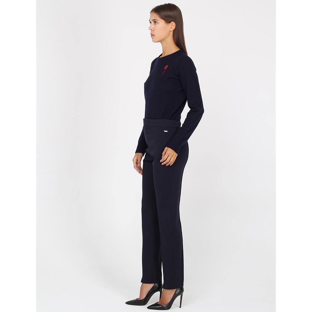 Узкие брюки Bogner синего цвета с разрезами впереди