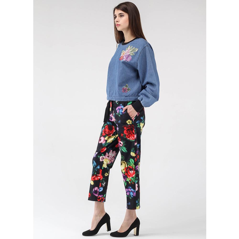 Укороченные брюки Love Moschino с цветочным принтом