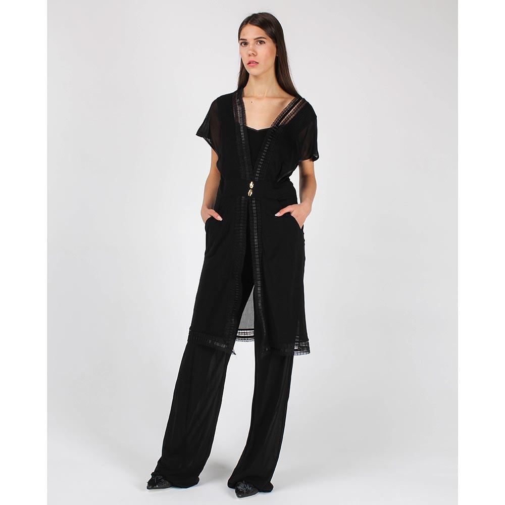 Комбинезон Cavalli Class черного цвета с широкими брюками