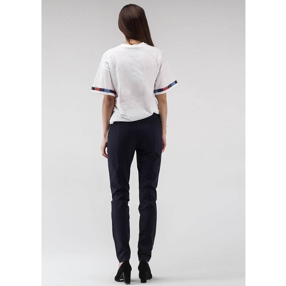 Синие узкие брюки Bogner с отделочной строчкой
