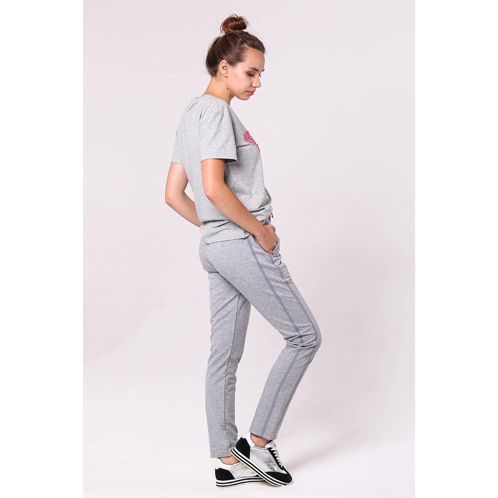 Спортивные брюки Bogner серого цвета с лампасами