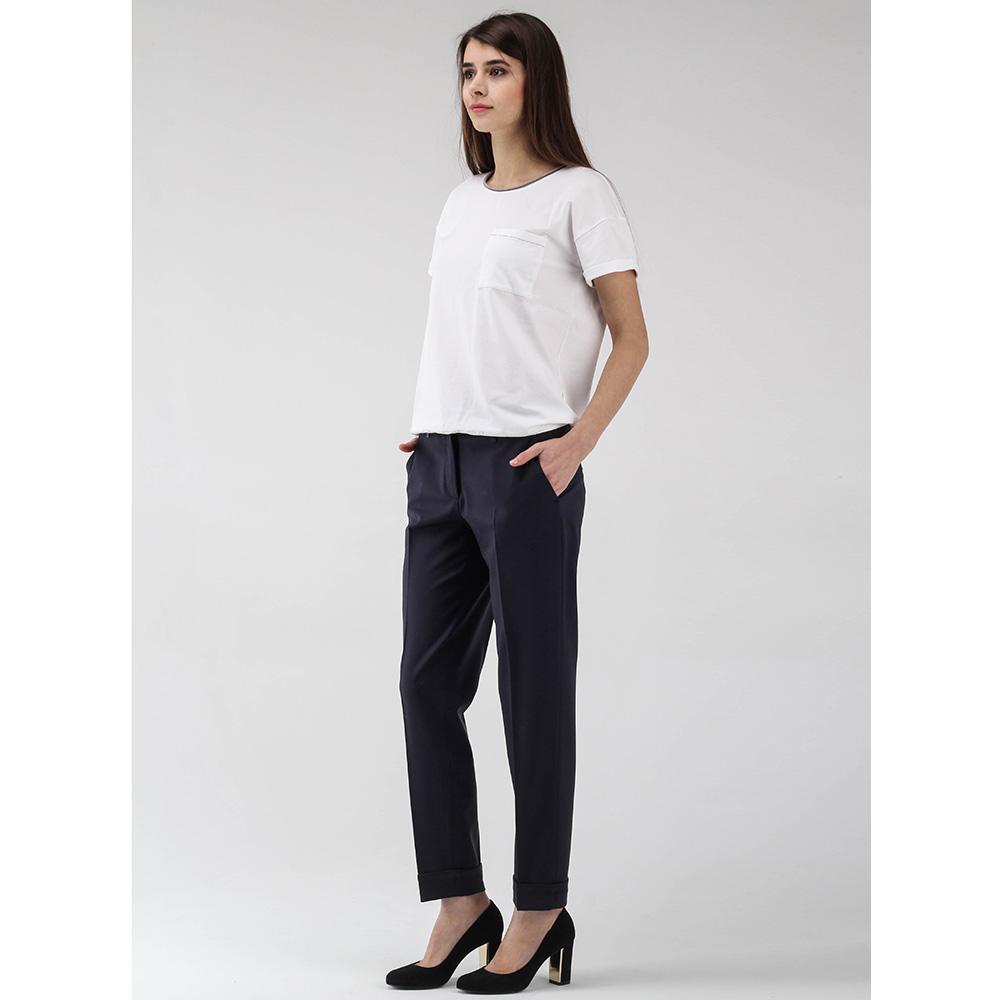 Зауженные брюки Peserico синего цвета со стрелками