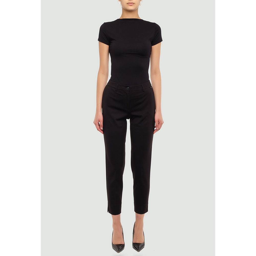 Черные брюки Twin-Set с разрезами