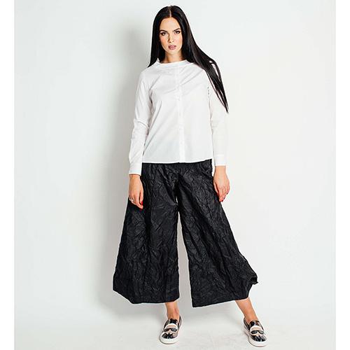 Черные широкие брюки F&emme с эффектом помятости, фото