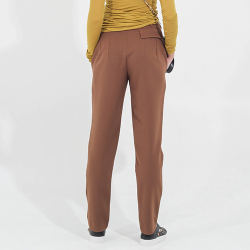 Брюки-чинос Sonia Fortuna коричневого цвета, фото
