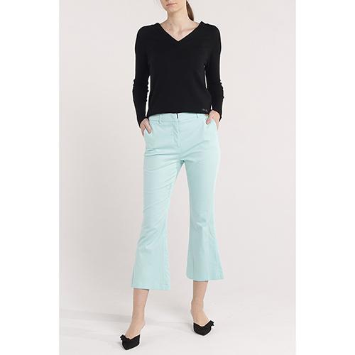 Расклешенные брюки Cavalli Class голубого цвета, фото