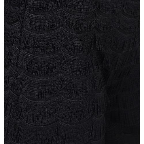 Черные кюлоты Cavalli Class с бахромой, фото