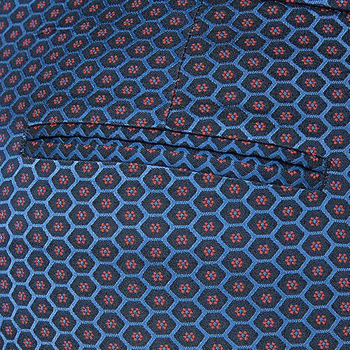 Синие брюки Etro с декором-принтом, фото
