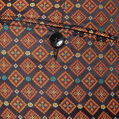 Брюки с принтом Etro коричневого цвета, фото