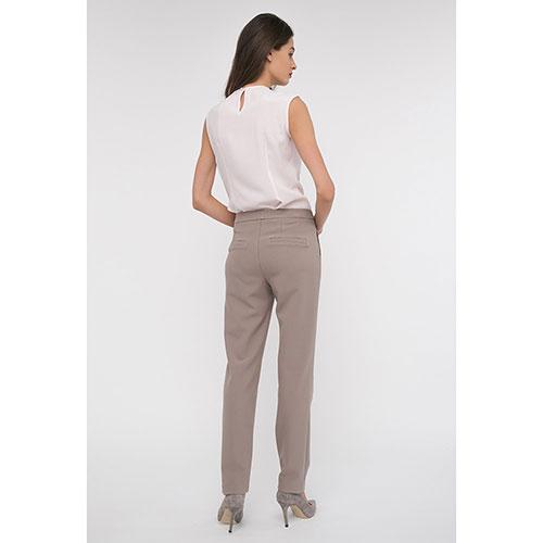 Зауженные брюки Shako бежевого цвета, фото
