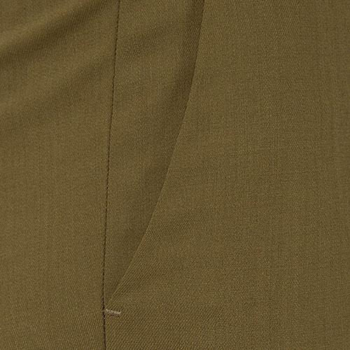 Зауженные зеленые брюки Etro со стрелками, фото