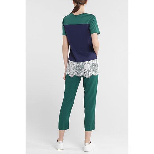 Зеленые брюки Twin-Set с лампасами, фото