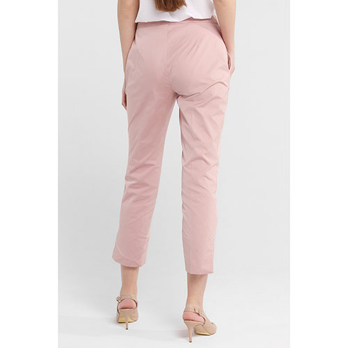 Розовые брюки Twin-Set с разрезами, фото