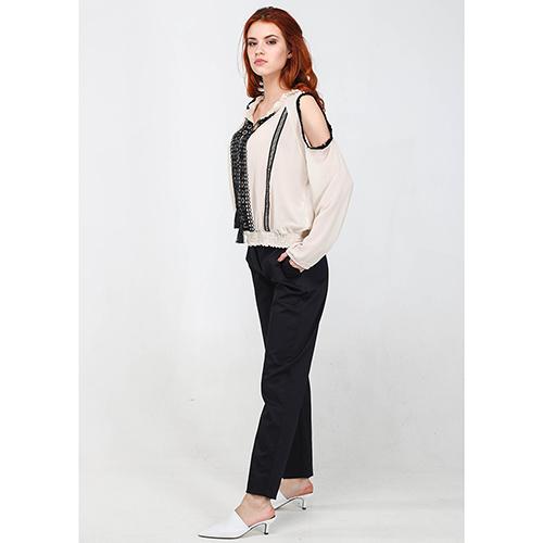 Зауженные брюки Blugirl Blumarine черного цвета, фото