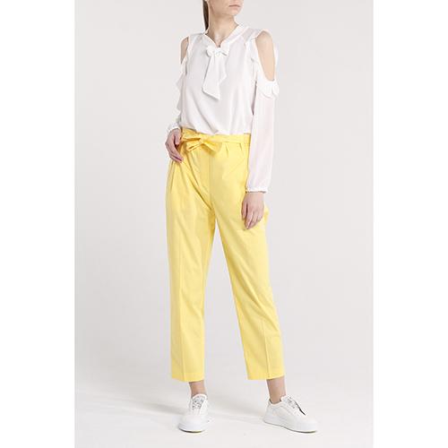 Брюки-чинос Blugirl Blumarine желтого цвета, фото