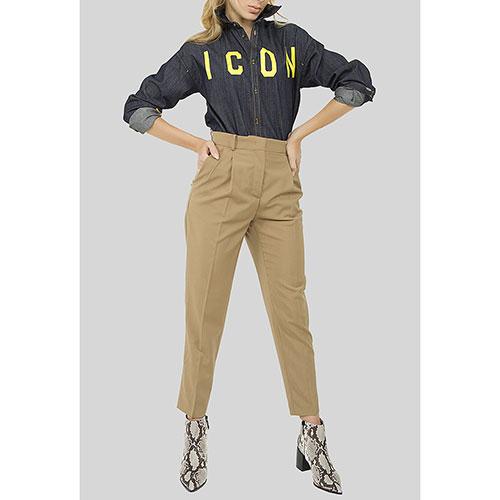 Укороченные брюки N21 с высокой талией, фото