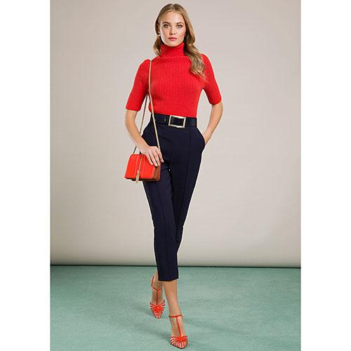 Укороченые брюки Elisabetta Franchi синего цвета, фото