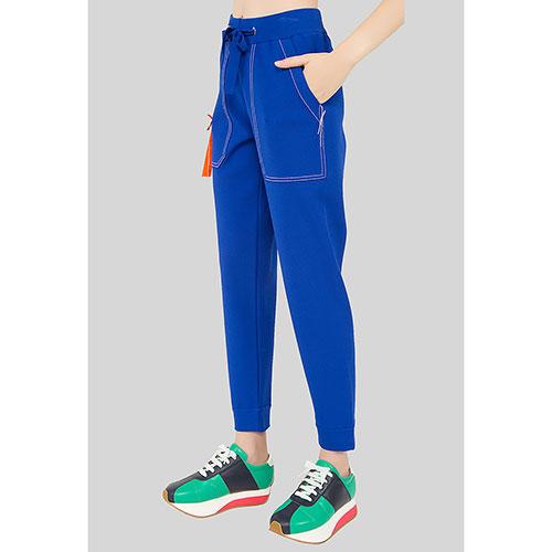 Спортивные брюки MRZ синие с белой строчкой, фото