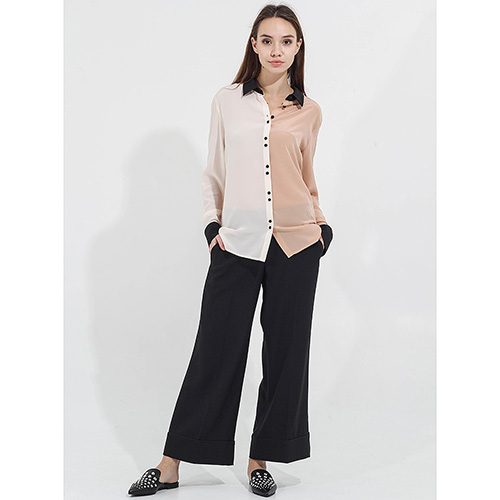Черные укороченные брюки Twin-Set клеш от бедра, фото