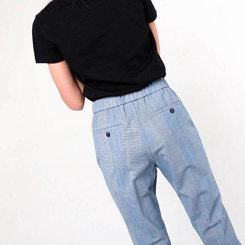 Серые брюки Peserico с отворотами, фото