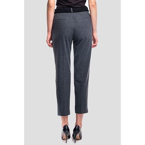 Укороченные брюки Peserico темно-серого цвета, фото