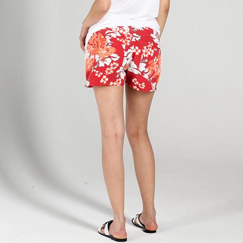 Красные шорты P.A.R.O.S.H. с оранжевым растительным принтом, фото