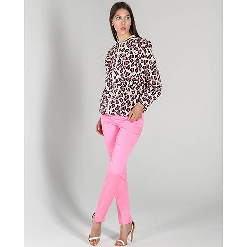Узкие брюки P.A.R.O.S.H. розового цвета неон, фото