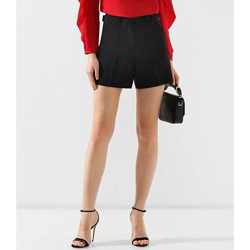 Черные шорты Red Valentino с завышеной талией, фото