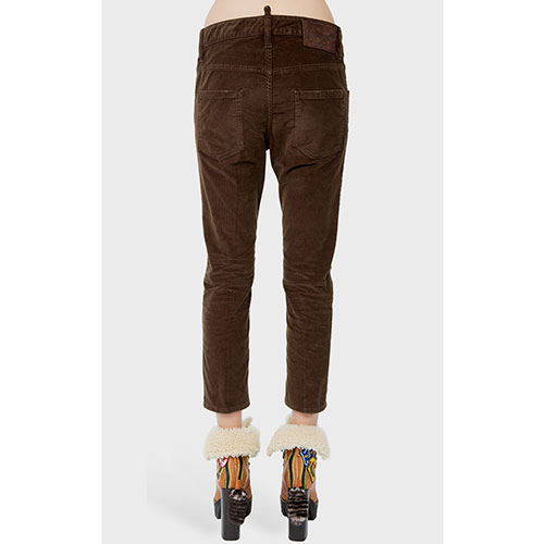 Укороченные брюки Dsquared2 коричневого цвета, фото
