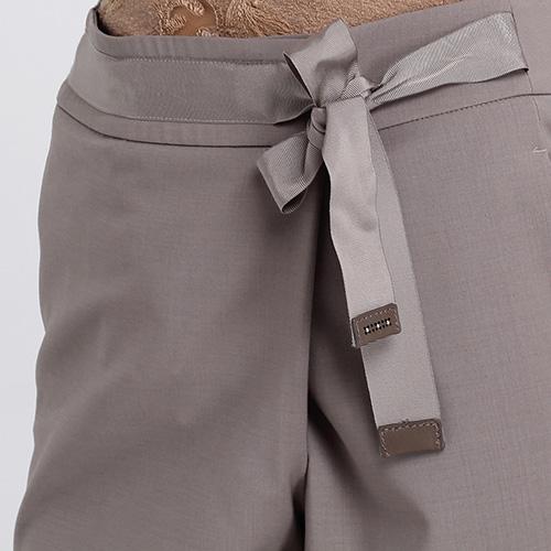 Брюки-чинос Peserico с запахом серого цвета, фото