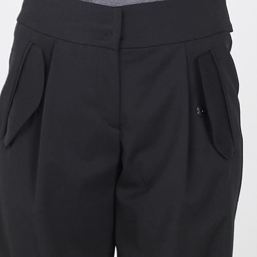 Брюки-чинос Emporio Armani черного цвета с манжетами, фото