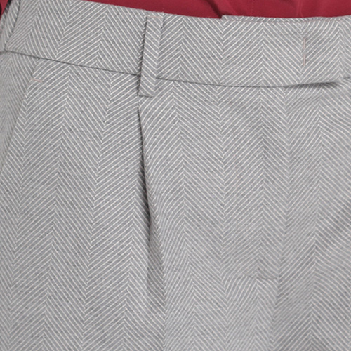 Классические брюки Peserico серого цвета с защипами, фото