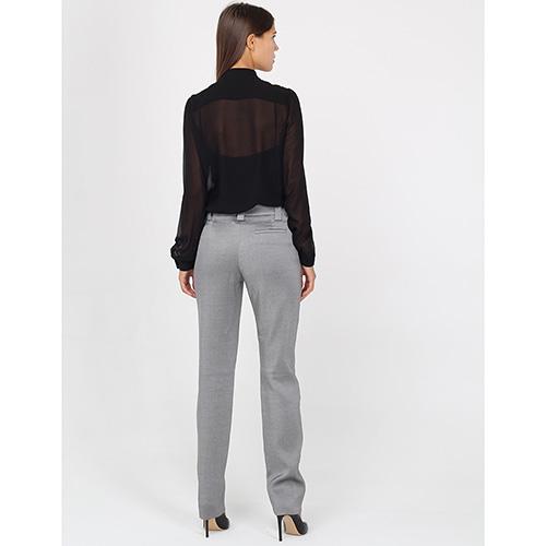 Зауженные брюки Emporio Armani из шерсти серого цвета, фото