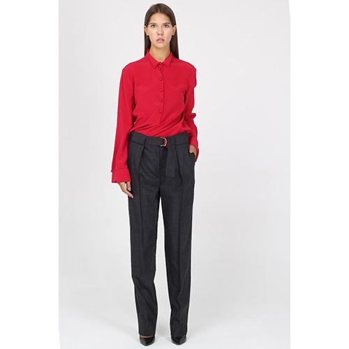 Классические брюки Emporio Armani на широком поясе с красной вставкой, фото