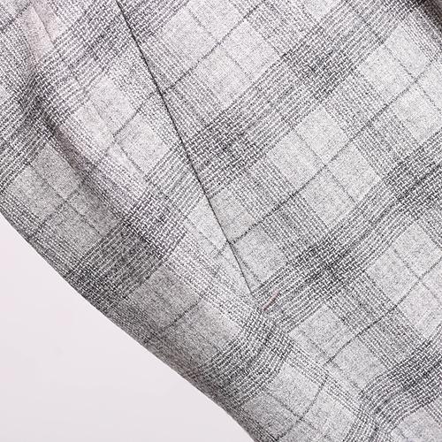 Клетчатые серые брюки Peserico по косточку, фото