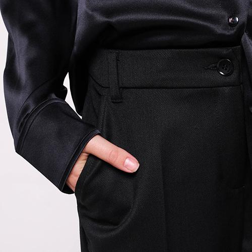 Черные брюки Emporio Armani со стрелками, фото