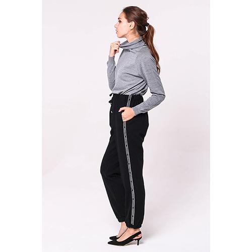 Спортивные брюки Ermanno Scervino черного цвета с лампасами, фото