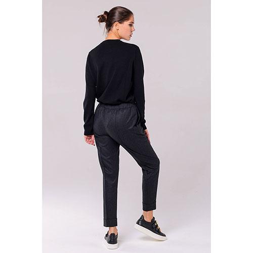 Серые брюки Kenzo из шерсти с отворотами, фото