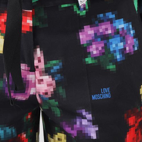 Укороченные брюки Love Moschino с цветочным принтом, фото