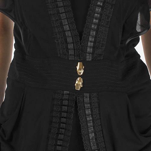 Комбинезон Cavalli Class черного цвета с широкими брюками, фото