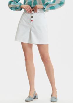 Джинсовые шорты Semicouture с цветными пуговицами, фото