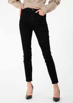 Укороченные джинсы J Brand черного цвета, фото
