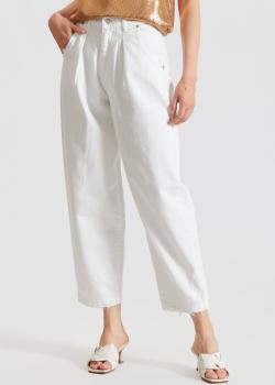 Белые джинсы-мом Vicolo с защипами, фото