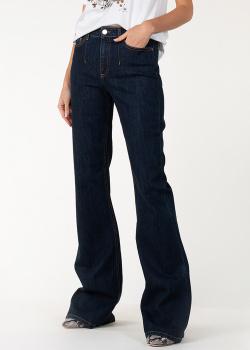 Расклешенные джинсы Alberta Ferretti темно-синего цвета, фото