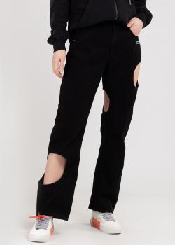 Черные джинсы Off-White с вырезами, фото