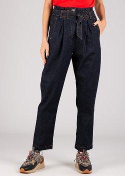 Синие джинсы-мом Vicolo с защипами, фото