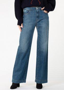 Расклешенные джинсы Alexa Chung синего цвета, фото